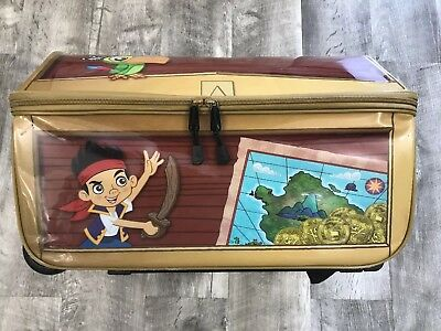 Disney Store Jake and the Neverland Pirates Rolling Luggage Carry-On Suitcase
