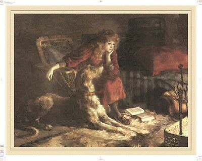 Scottish Deerhound Print, Silent Sympathy