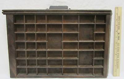 Ludlow Printer Drawer Letter Press Shadowbox With Handle 46 Compartment