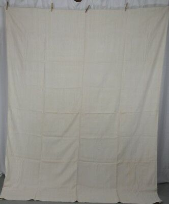sheet linen flax unbleached natural homespun 67 x 86  made by Alice antique 1800