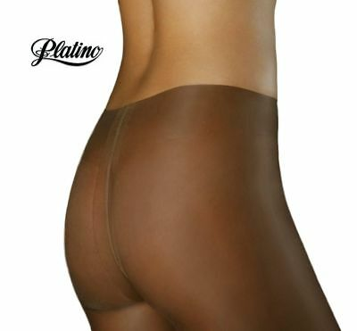 Platino Cleancut Glossy Shiny 40 Denier Sheer to Waist Pantyhose