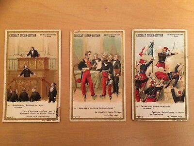 Chromos images anciennes publicitaires lot 4  trade card Guérin-Boutron