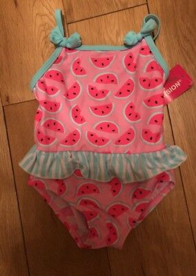 Baby girls swimming costume 6-9 months LOVELY PATTERN WATERMELONS FRILL & BOW