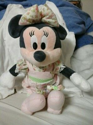 Minnie Mouse Soft Toy with pulling sring for music size wide 10ins lengt 14ins