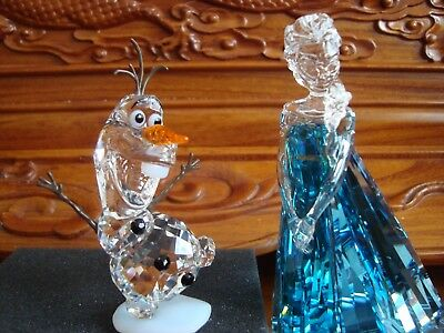 Swarovski Crystal 2016 Disney Elsa & Olaf - Frozen  5135878 & 5135880 New.