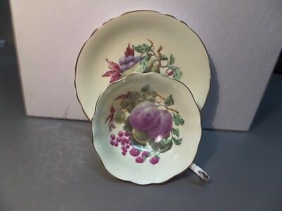Vintage Paragon -Orchard Fruit - Cup And Saucer -excellent shape-free shipping