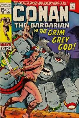 Conan the Barbarian (1970 series) #3 in Fine condition. FREE bag/board