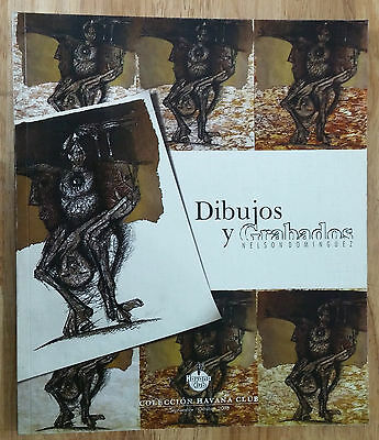"Art Catalog ""dibujos Y Grabados"" Nelson Dominguez Exhibition Cuba Arte Arts"
