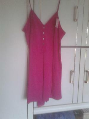 M&S Bright Pink Camisole Body : Size 16 : BNWT