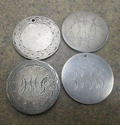 Lot of 4 Different Liberty Seated Silver Half Dollars Love Tokens No Reserve