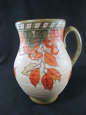 Hand Painted Signed L. Rhead Jug c.1930s Golden Leaves Pattern #4921
