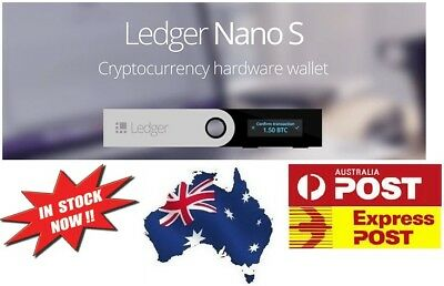 LEDGER NANO S Cryptocurrency Hardware Wallet BTC Ethereum Altcoins ** IN STOCK**