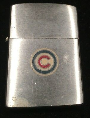 Vintage Zippo Lighter with Chicago Cubs logo 1962 or 1963