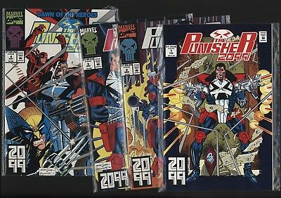 Punisher 2099 #1-4 Set Nm/nm+ White Pages Unread Investment Grade Copies