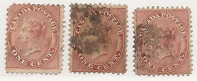 Canada #14 Used Set X 3 Copies
