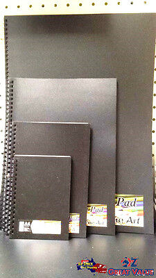 Reno Art Black Drawing Pad 140gsm 30 Sheets ACID FREE Black Paper Craft BPADP