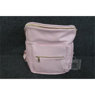 Fawn Design Womens $159.99 Pink Faux Leather The Diaper Bag Backpack