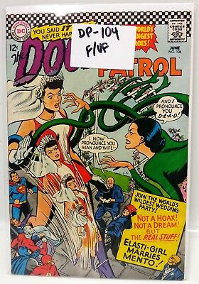 #104 DOOM PATROL 1960s  DC Comic Book- Fine/VF (DP-104)