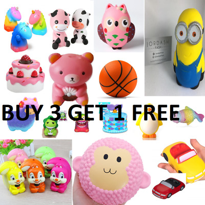 Jumbo Slow Rising Squishies Scented Craze Squishy Toy Charms Stress Reliever UK
