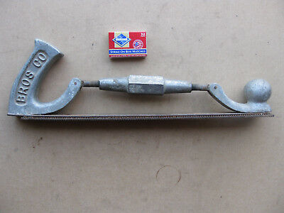 Vintage HELLER BROS CO. Auto Body File Rasp Holder Good Working Condition