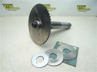 """Lot Of 4 Hss Slitting Slotting Saws .044"""" To 1/8"""" Widths W/ Arbor 1"""" Bores"""