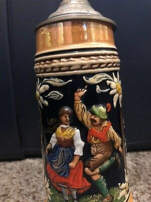 """Stein Scottish Dancers With Lid. 7"""" Tall"""
