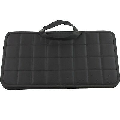Knife Roll Carrying Storage Case Pack Holds 24 Pocket Knives Buckles