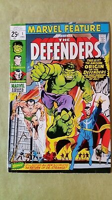 Marvel Feature #1.  Origin/First appearance of Defenders. (12/71, Marvel)