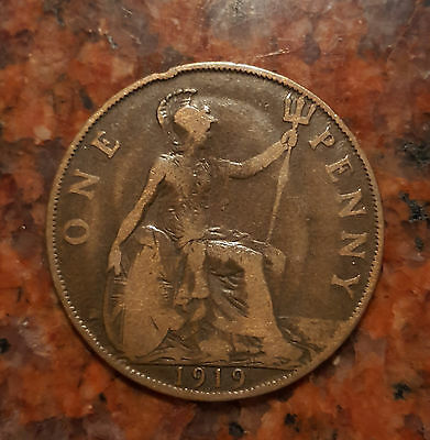 1919 Great Britain One Penny - George V - #901