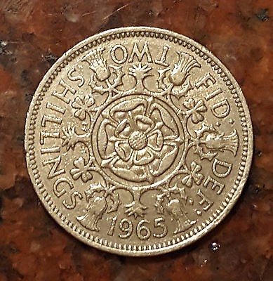 1965 Great Britain Two Shilling Coin - #1194