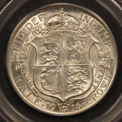 Great Britain Half Crown 1916 Silver PCGS MS62