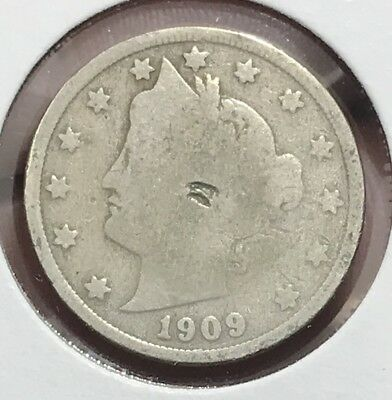 1909 Liberty V Nickel. Nice Collector Coin For Your Collection.2