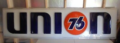 """LARGE UNION 76 SERVICE STATION SIGN - 8' LONG x 26"""" HIGH - RARE"""
