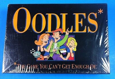 "Milton Bradley 1992 "" OODLES "" Question Answer Party Game SEALED NEW"