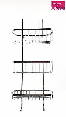 Over Door 3 Tiers Shower Caddy Organizer Storage Bathroom Rack BA012