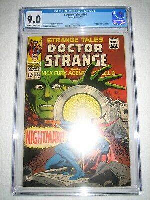 STRANGE TALES # 164 CGC 9.0 OW/WH - 1st APPEARANCE OF YANDROTH!!! YELLOW CLAW!!