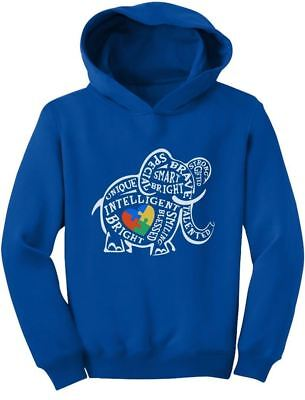 Autism Awareness Elephant Toddler Hoodie Support The Cause