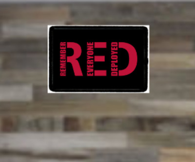 RED, Remember Everyone Deployed, Support Our Troops, Morale Patch, Tactical,