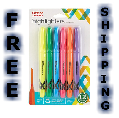 Highlighter Marker Pens 12 Pack Assorted Colors