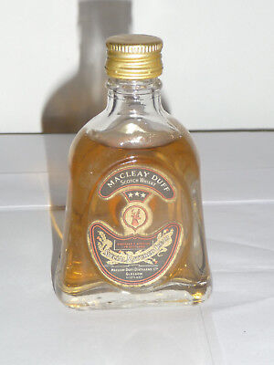 Ancienne bouteille miniature de Whisky MACLEAY DUFF