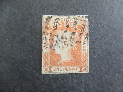 NSW Stamps: 1dOrange Lauretes Used   (r178)