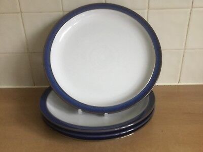 Denby Imperial Blue 4 x 26 cm Dinner Plates