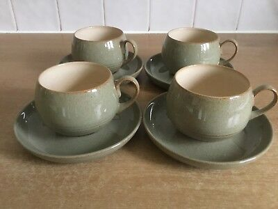 Denby Camelot 4 x Cups and Saucers