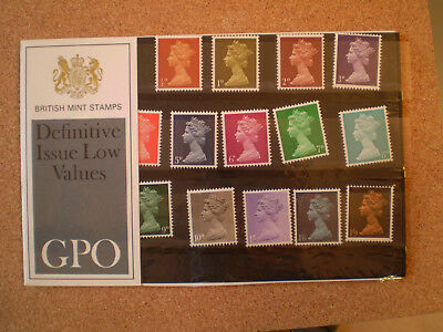 1967 DEFINITIVE ISSUE LOW VALUE 1/2d - 1/9 PRESENTATION PACK (No 8) IN MINT COND