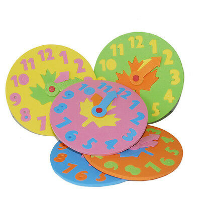 1x Foam Number Clock Time Puzzle Children Baby Kids Learning Educational Toy