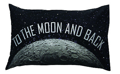 """Kids """"To The Moon & Back"""" Novelty Pillowcase - Fit's A Standard Size Pillow"""