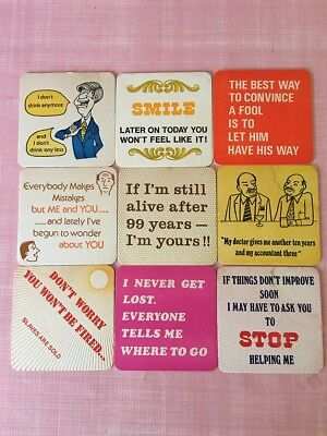 RETRO Bar Coasters - Comic - Lot of 9