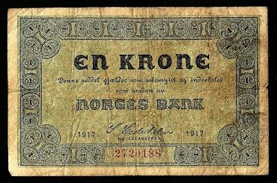 1 Krone From Norway 1917
