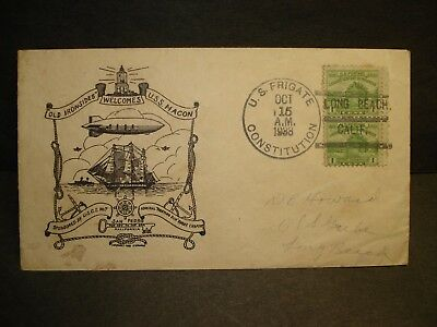 USS MACON ZRS-5 Navy Cover 1933 Airship Cachet USS CONSTITUTION