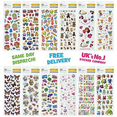 Fun Stickers Animals Children Birthday Party Loot Bag Fillers Kids Decorating